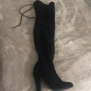 Thigh high Steve Madden suede boots